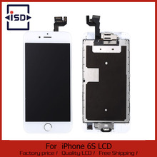 1PCS White LCD Display For Apple iPhone 6S Touch Screen Digitizer Frame Full Set Assembly Replacement + Home Button + Camera