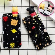 Милые 3D игрушки satrs Минни медведь случаи телефона для iPhone 6 6S 6 плюс 7 7 Plus Glossy Мягкий силиконовый чехол мультфильм сзади Крышка