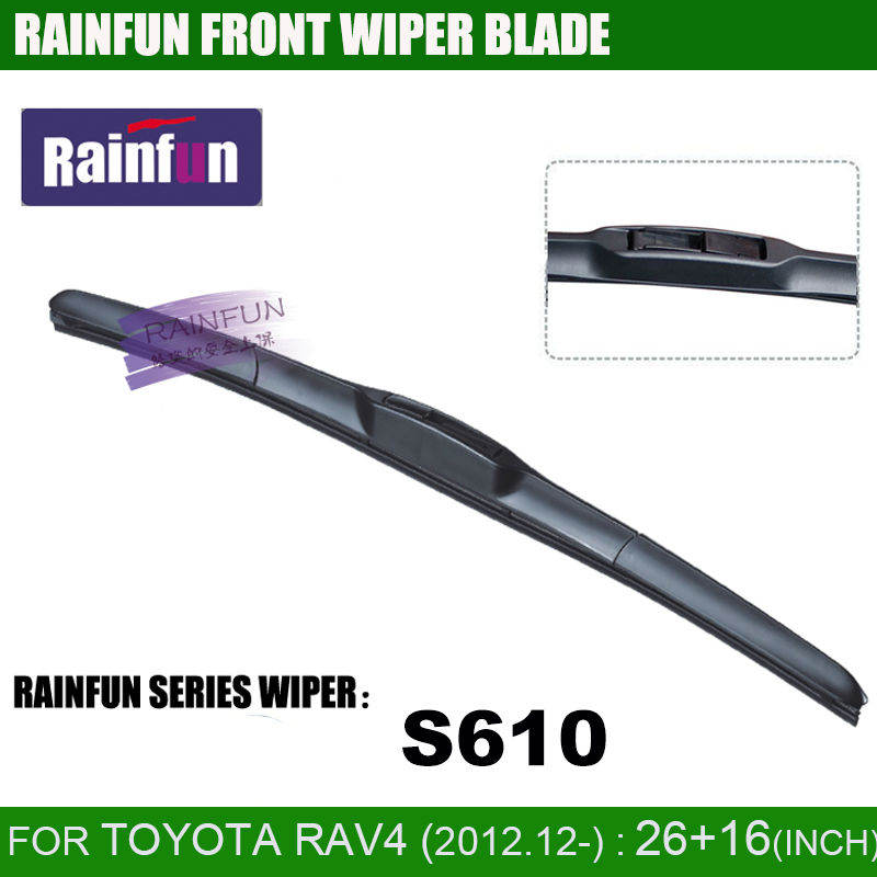 RAINFUN dedicated car wiper blade for TOYOTA RAV4, RAV-4 CA40(13-), <font><b>26</b></font>+<font><b>16</b></font> INCH auto wiper with high quality natural rubber image