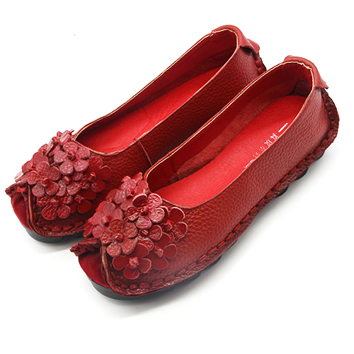 Xiuteng 2017 Schuhes Summer Soft Moccasins Casual Schuhes 2017 Damens Flowers High Quality Genui e884a2