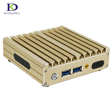 Пакет PC i5 5200U dual core Безвентиляторный Mini PC 2.2 ГГц сливовый компьютер Windows 10 HDMI DP Wi-Fi настольного дома и офиса PC 16 г Оперативная память 256 г