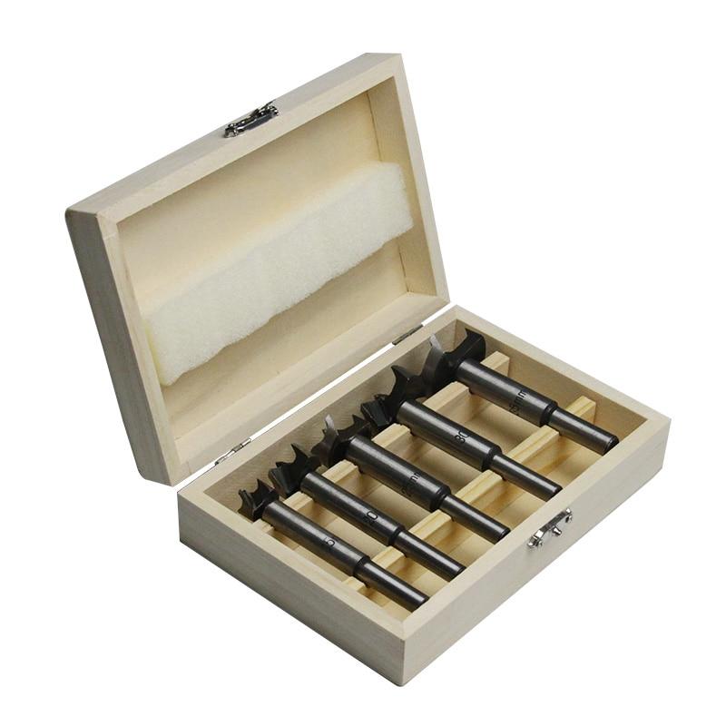 5 pezzi Forstner punte da trapano foro per legno sega punte set di strumenti per la lavorazione del legno