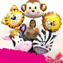 big animal shaped balloons inflatable toys pig giraffe zebra monkey tiger lion elephant cow decorative heads balloon