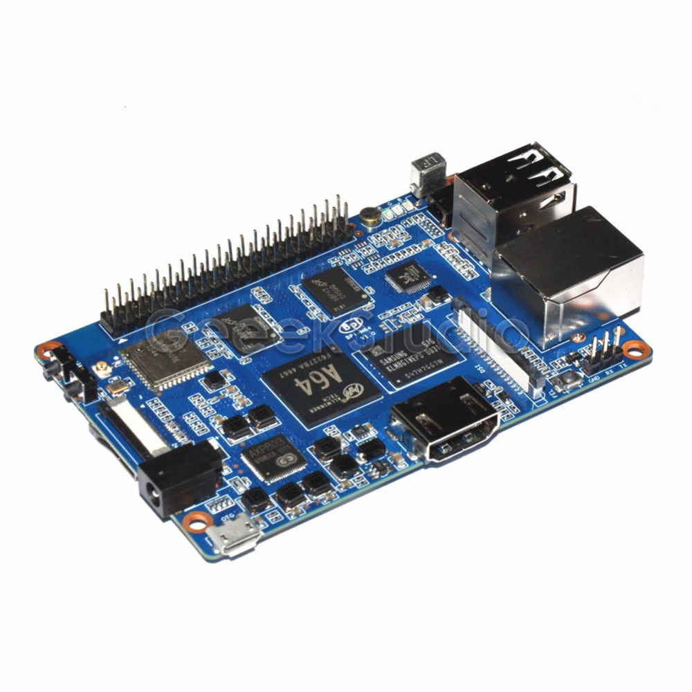 Banana Pi M64 BPI-M64 A64 64-Bit Quad-Core 2GB RAM with WiFi Bluetooth 8GB eMMC demo Single Board and 1pcs 3dB Antenna недорого