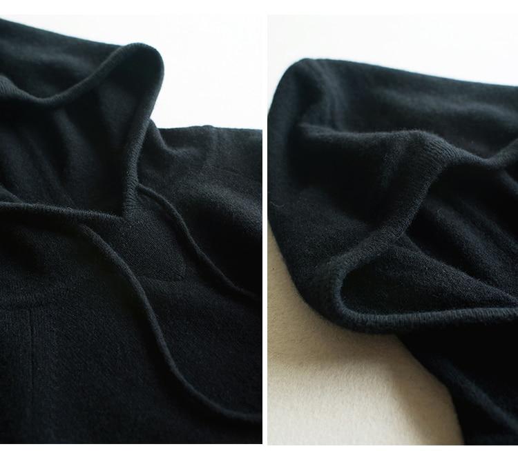 2 De Pull Pantalon Ue Pcs ensemble Qualité À Top ml Costumes Manteau Chèvre Femmes Harem 100Cachemire Capuche Sweats 7y6Yfgb