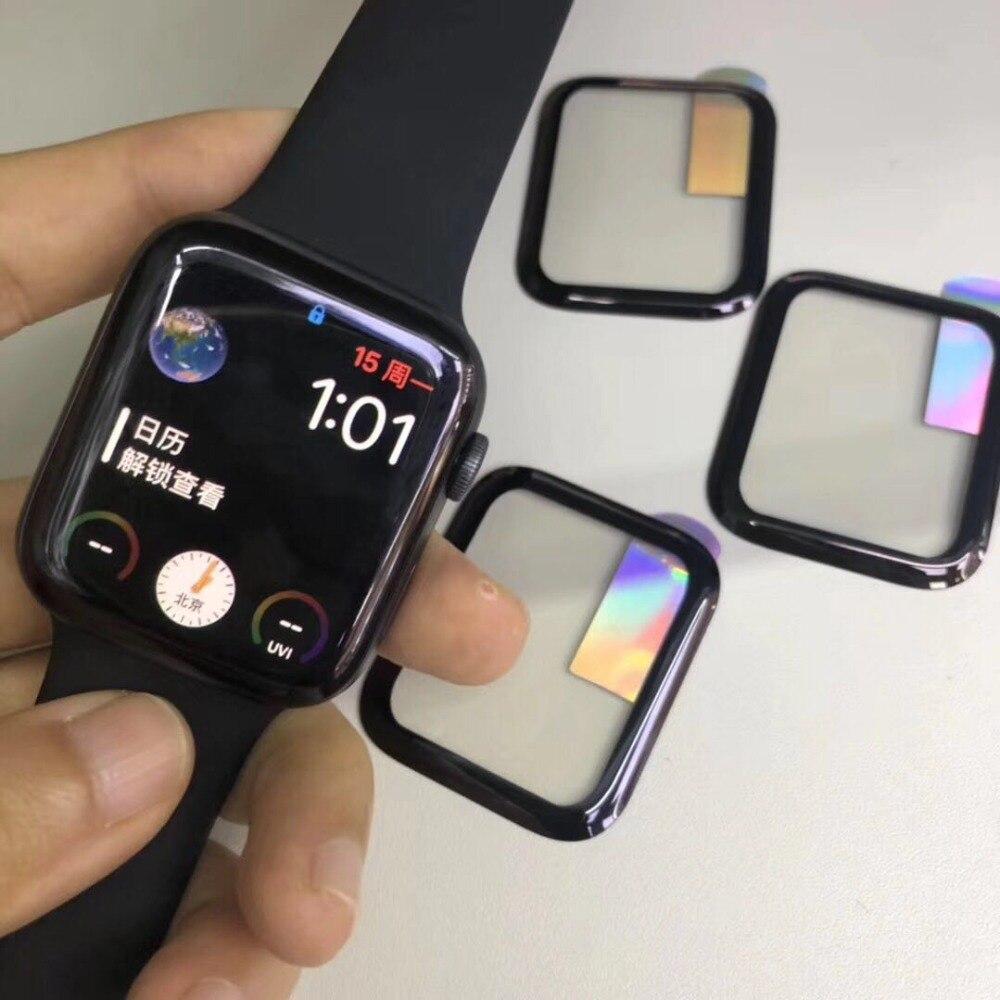 100 pièces 3D couverture complète verre trempé pour Apple Watch série 1/2/3/4 38mm 42mm 40mm 44mm Film protecteur d'écran-in Écran Protecteurs from Electronique    1