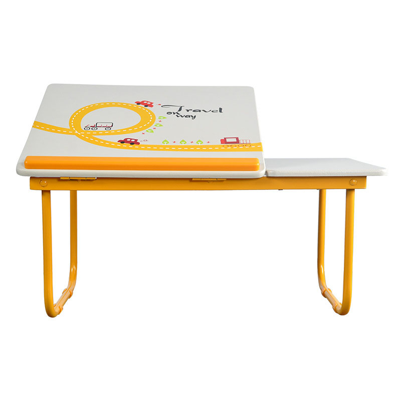 Fashion Simple Colorful Folding Laptop Table Students Studying Small Desk Playing Learning Desk Bed Table stainless steel sink drain rack