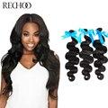 Бразильские Волосы Девственницы Объемной Волны 3 Шт. Набор 1B Natural Black Человеческих Волос Tissage Bresilienne Необработанные 100 Бразильские Человеческие Волосы