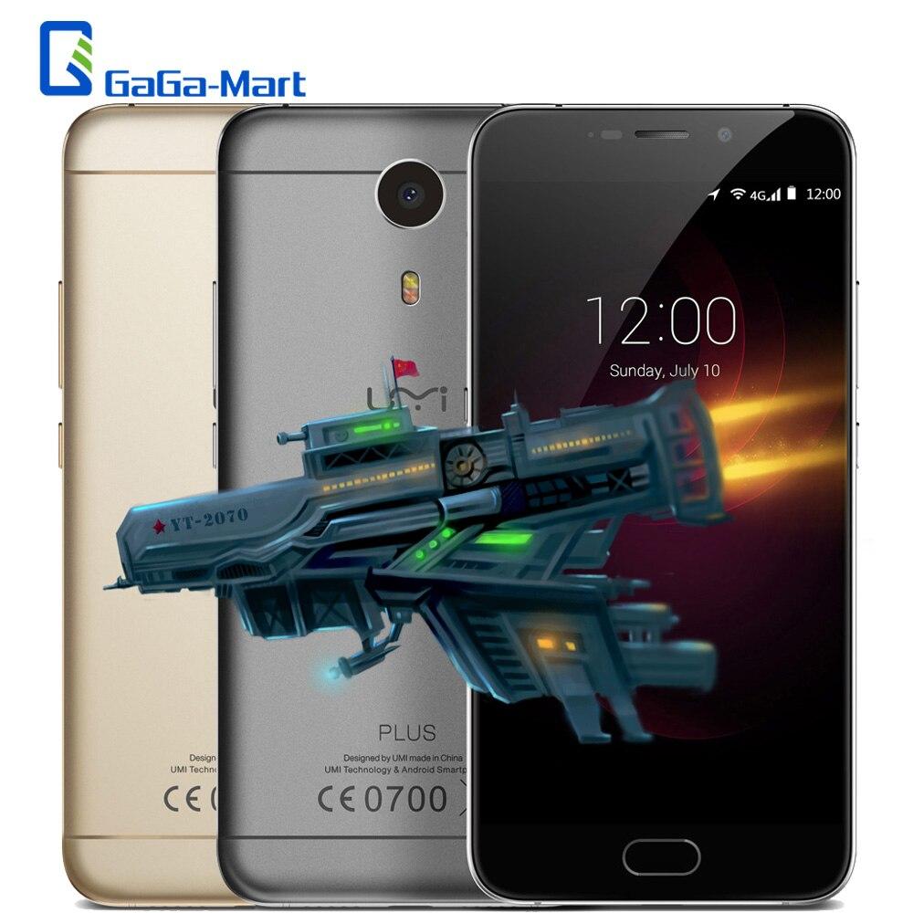 "Цена за Umi плюс мобильный телефон android 6.0 mtk6755 окта основные 4 ГБ RAM 32 ГБ ROM 13MP Отпечатков Пальцев 5.5 ""Дюйма 1920x1080 FHD 4 Г LTE смартфон"