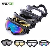 Внедорожный wosawe кататься goggle сноуборде уф-защита коньках лыжная объектив мотоцикл открытом