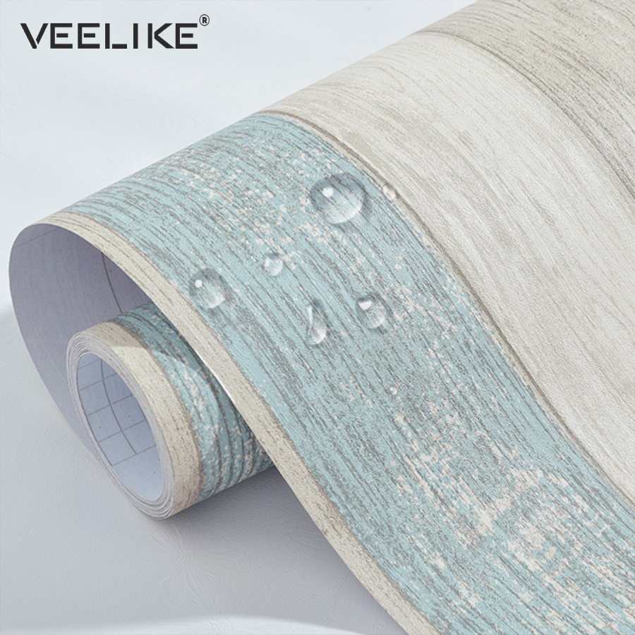 Vinyl Wood Grain Contact Paper For Kitchen Cabinets Shelf Liner Bedroom Living Room Decor PVC Waterproof Self Adhesive Wallpaper