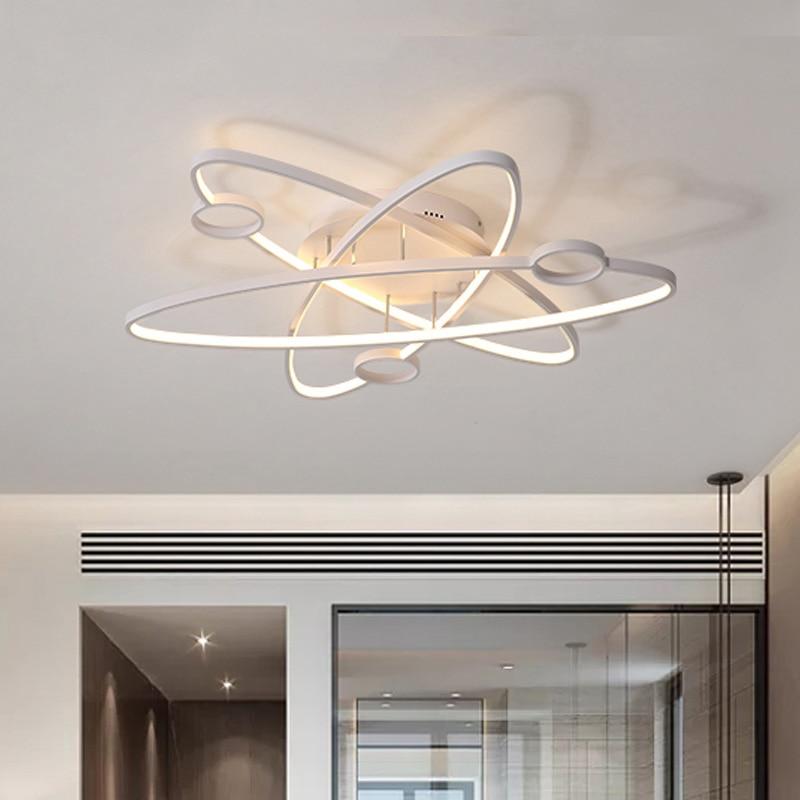 Алюминий волна потолочные светильники Светодиодный светильник для гостиной AC85 265V lamparas де techo современный светодиодный мерцающий потолочны