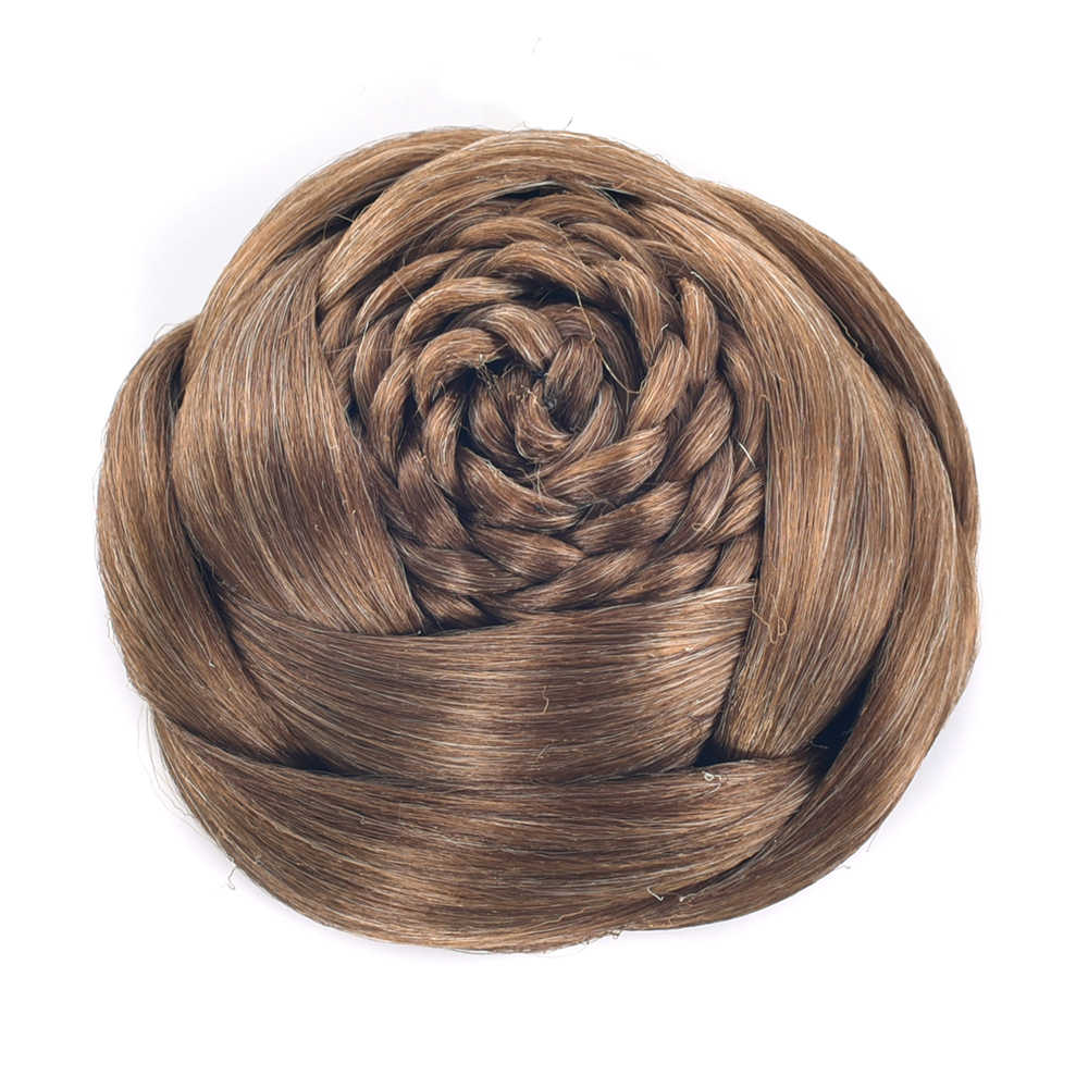 Soowee коричневый черный зажим для косичек в поддельные волосы булочка синтетические волосы шиньон быстро булочка пончик роликовые накладные волосы для женщин