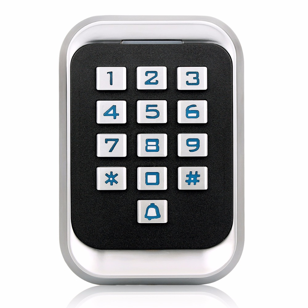 Waterproof IP68 RFID Door Access Control System Metal ID Keypad Single Door Standalone Access Control With 2000 Users F1417D