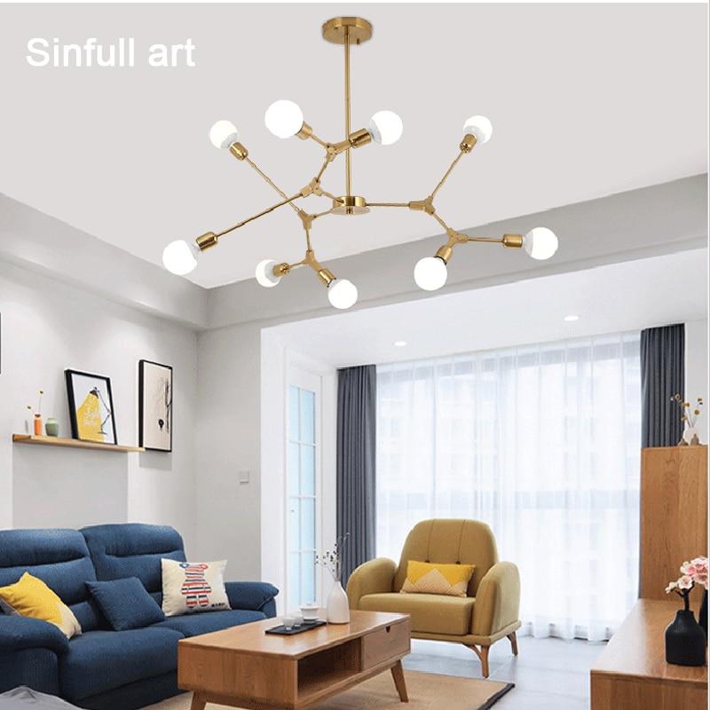 Modern Led Living Dining Room Pendant Lights Suspension: Modern Living Room Pendant Light Dining Room Minimalism