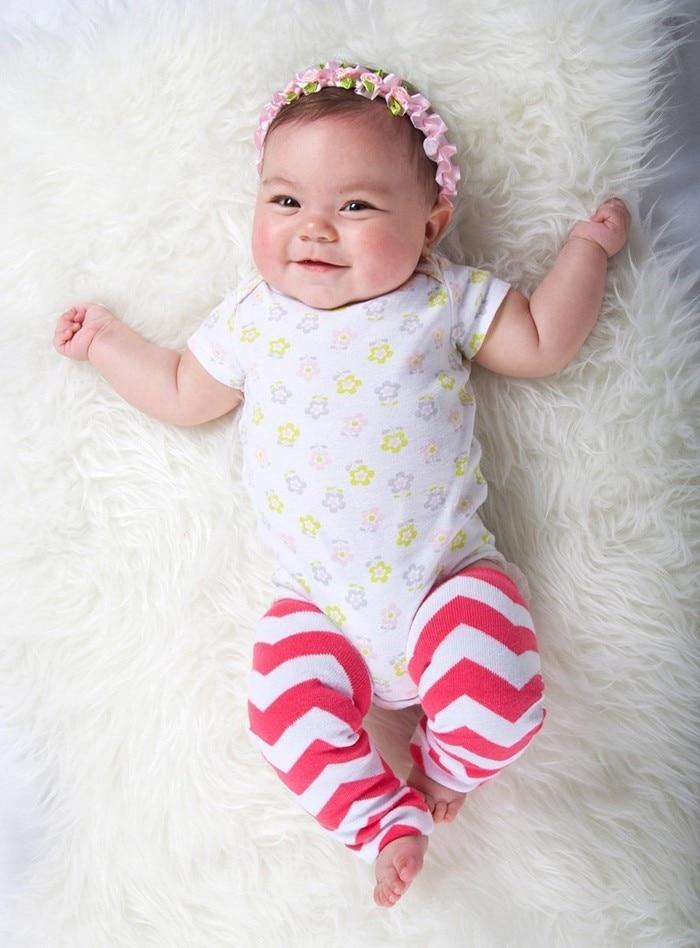 Little Girls Toddler Baby One Size Chevron Zig Zag Stripe Leg Warmers