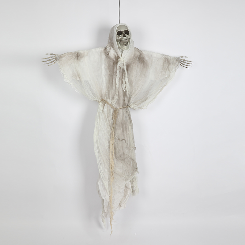 HTB1omTpXjDuK1Rjy1zjq6zraFXaV - 165cm Halloween Hanging Ghost Haunted House Escape Horror Halloween Decorations Terror Scary Props Theme Party Drop Ornament 1pc