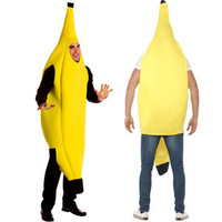 2016free Shipping Men Cosplay Adult Fancy Dress Funny Sexy Banana Costume Novelty Halloween Christmas Carnival Party
