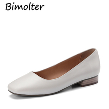 Bimolter Women Sweet Pumps Low Heel Pure Color Pink,White Black Shoes Woman  Luxury Casual Office Street Dress LCSA009