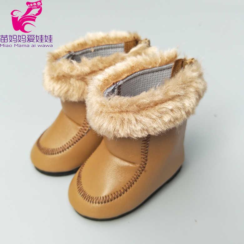 """8 ซม. รองเท้าสำหรับ 43 ซม. ใหม่เด็กทารกรองเท้าตุ๊กตาหมีสัตว์รองเท้าตุ๊กตาเด็ก hightops 18 """"สาวรองเท้าตุ๊กตาสีดำ rainboots"""