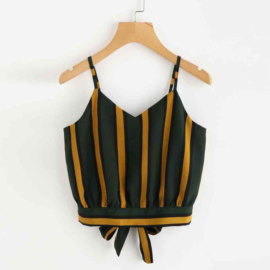 Tank Top  Polyester Stripe Seft   Tops For Ladies Girls  Summer  Tee  Women's Clothing Camisole 18JUN25