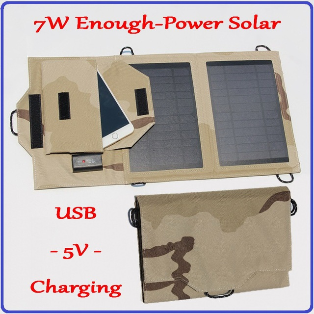 Solar Power Bank 7W Real Capacity Solar Charger 5V USB Output portable charger for all iphone mobile phones etc digital product