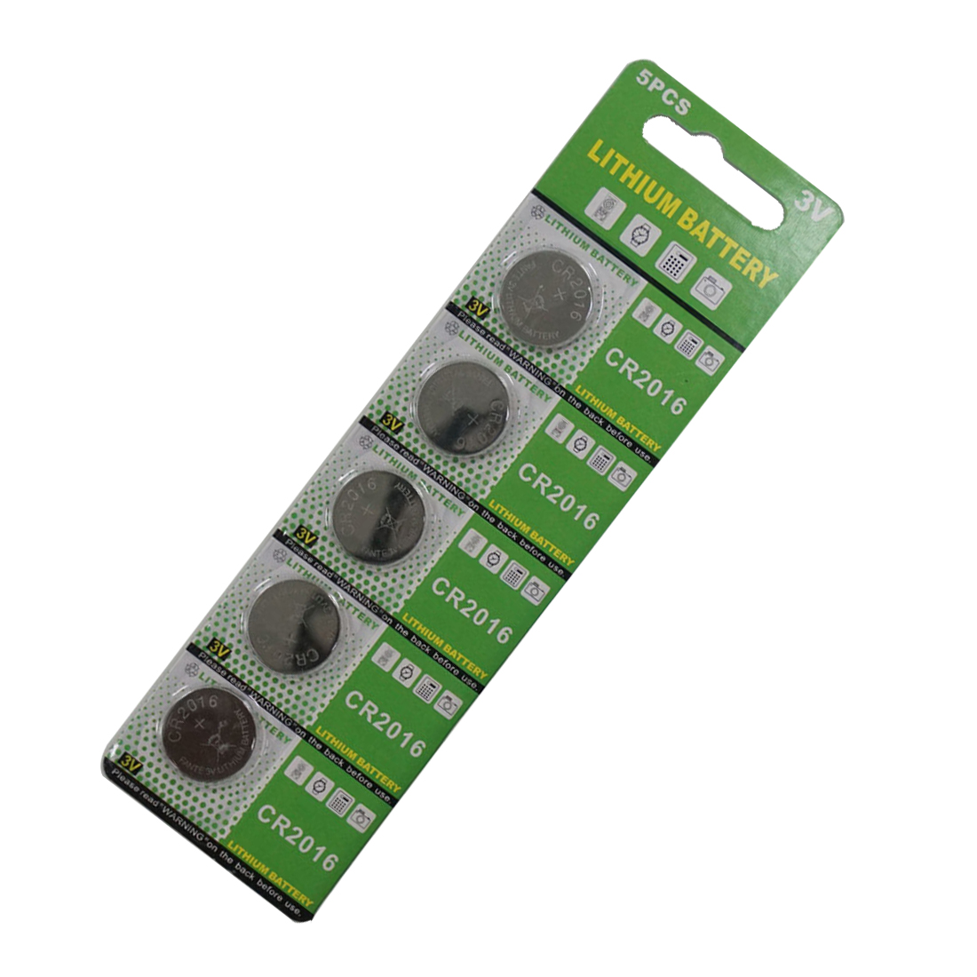 5x Knopfzelle Uhrenbatterie CR2016 LM2016 BR2016 DL2016 KCR2016 ECR2016 3 Volt