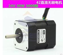 42 brushless DC high voltage motor30W 24V 3000 rpm.Body length 50mm High speed brushless motor