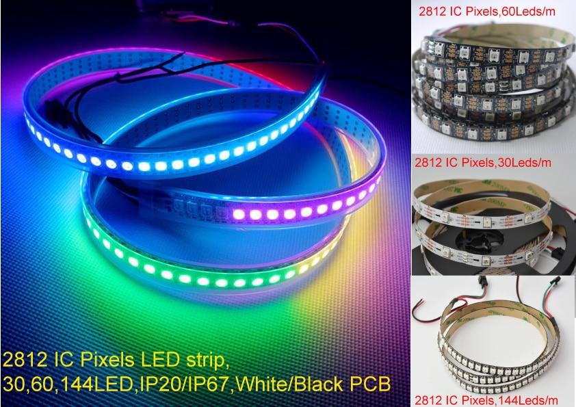 Diplomatic Pixels Led Pixel Strip Dream Color Ws2812b 5050 Rgb 5m Led Strip 5m/roll 30 60 72 144 Leds/m Individual Addressable 5v Ip20 Ip67 Led Strips Lights & Lighting
