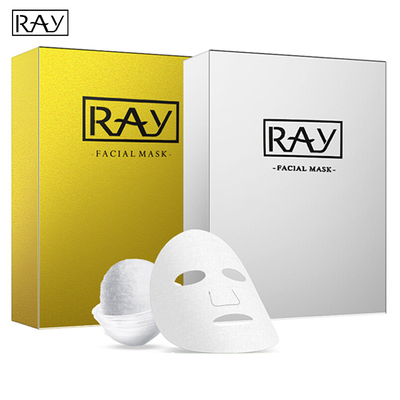 Thailand Ray Facial Silk Mask Moisturizing Box Of 10 Pieces (Gold / Silver)
