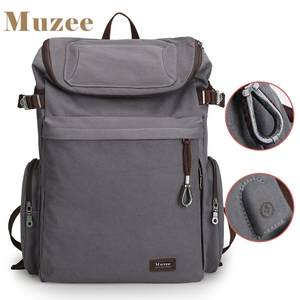 Image 1 - Muzee Brand Vintage backpack Large Capacity men Male Luggage bag canvas travel bags Top quality travel duffle bag