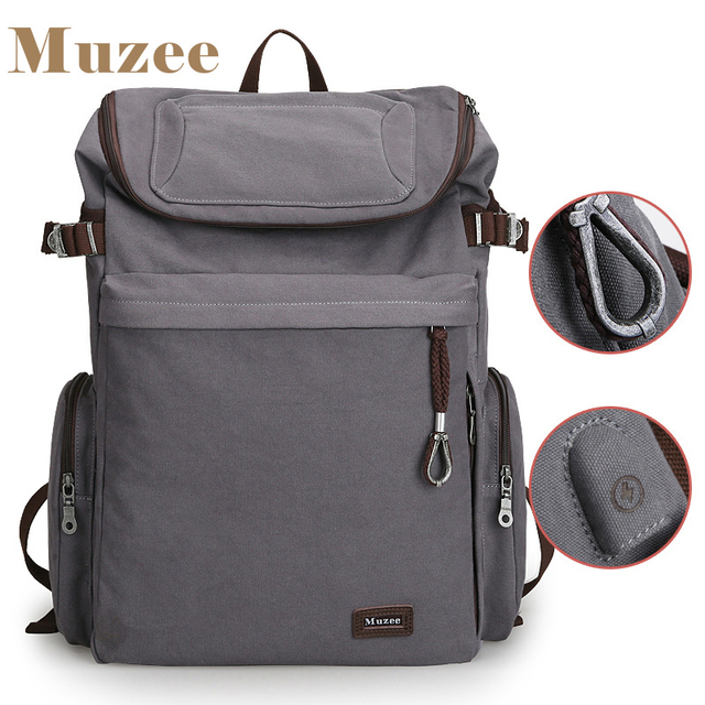 Muzee Brand Vintage backpack Large Capacity men Male Luggage bag canvas travel bags Top quality travel duffle bag