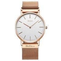BIDEN Fashion Casual Brand Quartz Watch Men S Luxury Stainless Steel Mesh Milanese Buckle Strap Business