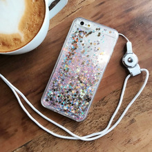 Creative quicksand phone case for iPhone X XS 5 5S  8 7 6 6S PluS personality liquid drop protection cover