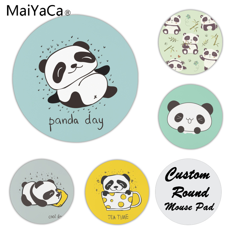 MaiYaCa  Panda So Cute  Customized Laptop Gaming Mouse Pad Size For 22x22x0.2cm Gaming Mousepads