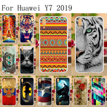 6.26 TPU Case for Huawei Y7 Pro 2019 Silicone Painted Cover Fundas Y7Pro Phone Bumper
