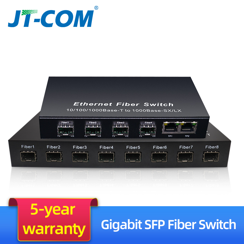 8G2E 8 sfp slot fiber 2 rj45 Gigabit ethernet network switch 4G3E 4 sfp fiber 3 rj45 1000M media converter Optical Transceiver8G2E 8 sfp slot fiber 2 rj45 Gigabit ethernet network switch 4G3E 4 sfp fiber 3 rj45 1000M media converter Optical Transceiver
