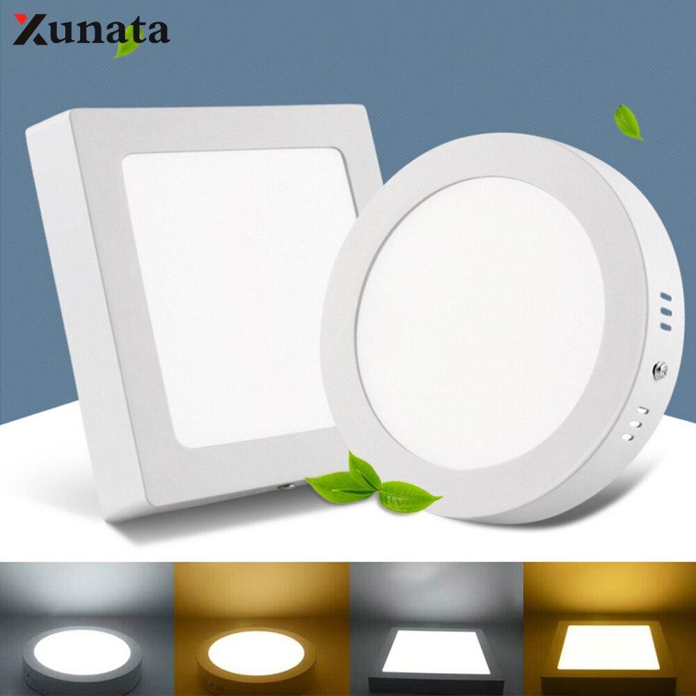 Ultra-thin Led Panel Ceiling Light AC85-265V Waterproof Surface LED Spotlight Lamp Corridor Home Aisle Hotel Bathroom Lighting