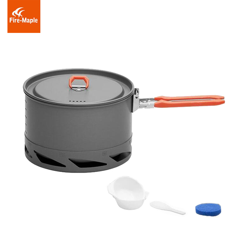лучшая цена Fire Maple Heat Exchanger Camping Pot Outdoor Cookware Cooking Kettle 1.5L/1L FMC-K2/FMC-XK6