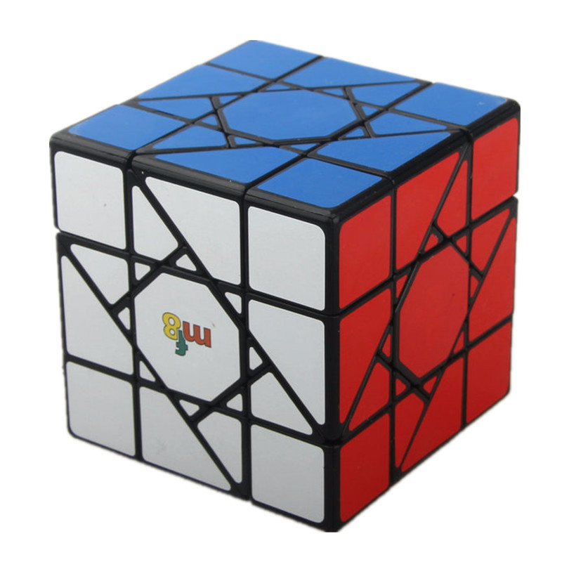 MF8 Sun Cube 66mm Brain Teaser Legend 3x3x3 Magic Cube Puzzle Toy - Colorful / Black yj brain teaser 2 x 2 x 2 magic iq cube multicolored