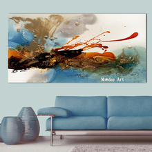 HandPainted Knife abstract Oil Painting Canvas Large Palette 3D For Living Room office Modern Abstract Wall Art Picture