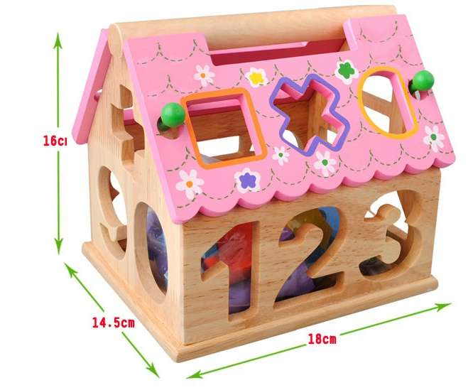 Porous Geometry Digital House With Smart Childhood Puzzle Early Learning Toys Fun House
