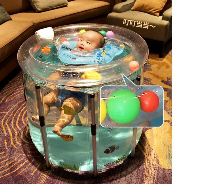 baby bathtubs Inflatable Bathtub Safety PVC Thickening Washbowl Portable Bathing Bath Tub for Kid Toddler Newborn Four Size