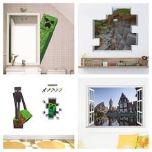 дешево!  Популярные Мозаика Игры Minecraft Стены Стикеры Для Детей Спальня Главная Искусство Мальчики