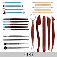Wood Handle Pottery Set Pottery Clay Smoothing Polymer Shapers 1Set Wax Carving Sculpt Ceramic Tools Rock Painting Kit