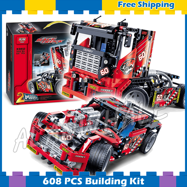 608pcs 3360 2in1 Technic Limited Edition Set Race Truck Model Building Blocks Bricks Boys Toys Kids Gifts Compatible with <font><b>Lego</b></font> image