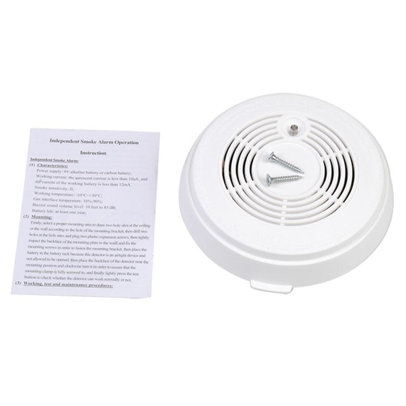 NEW 85dB Independent Photoelectric Optical Smoke Gas Sensor Detector Induction Alarm Safely Security High Sensitivity parts leveling sensor photoelectric switch micro optical switch weco k3 optical universal