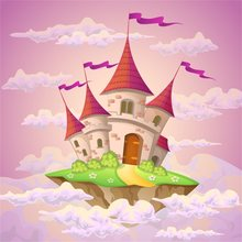 Laeacco Wonderland Pink Theme Castle Scenery Baby Photographic Backgrounds Customized Photography Backdrops For Photo Studio(China)