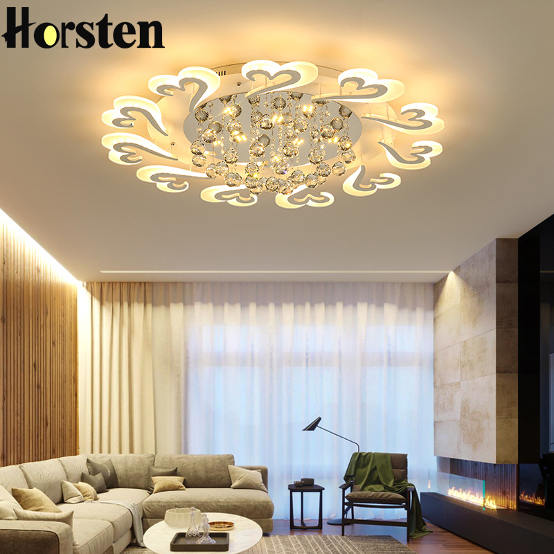 European Style LED Ceiling Chandeliers Lights For Living Room Dinning Room Restaurant Crystal Acrylic Luxury Chandelier Lamp