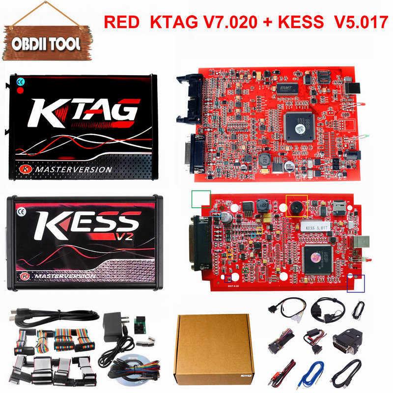 ЕС версия онлайн KTAG K-TAG V7.020 v2.23 Kess V2 V5.017 V2.47 kess v2 мастер версия BDM зонд Адаптеры ECU чип тюнинг